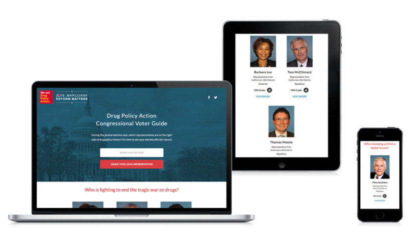 Outstanding Website: Drug Policy Action, [Congressional Voter Guide](http://webawards.sanky.info/staging/dpa/voter-guide/)