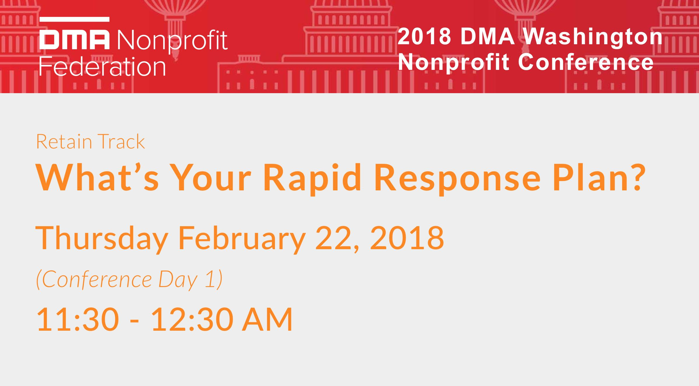 What's your Rapid response Plan? -Sanky leads a session DCNP 2018